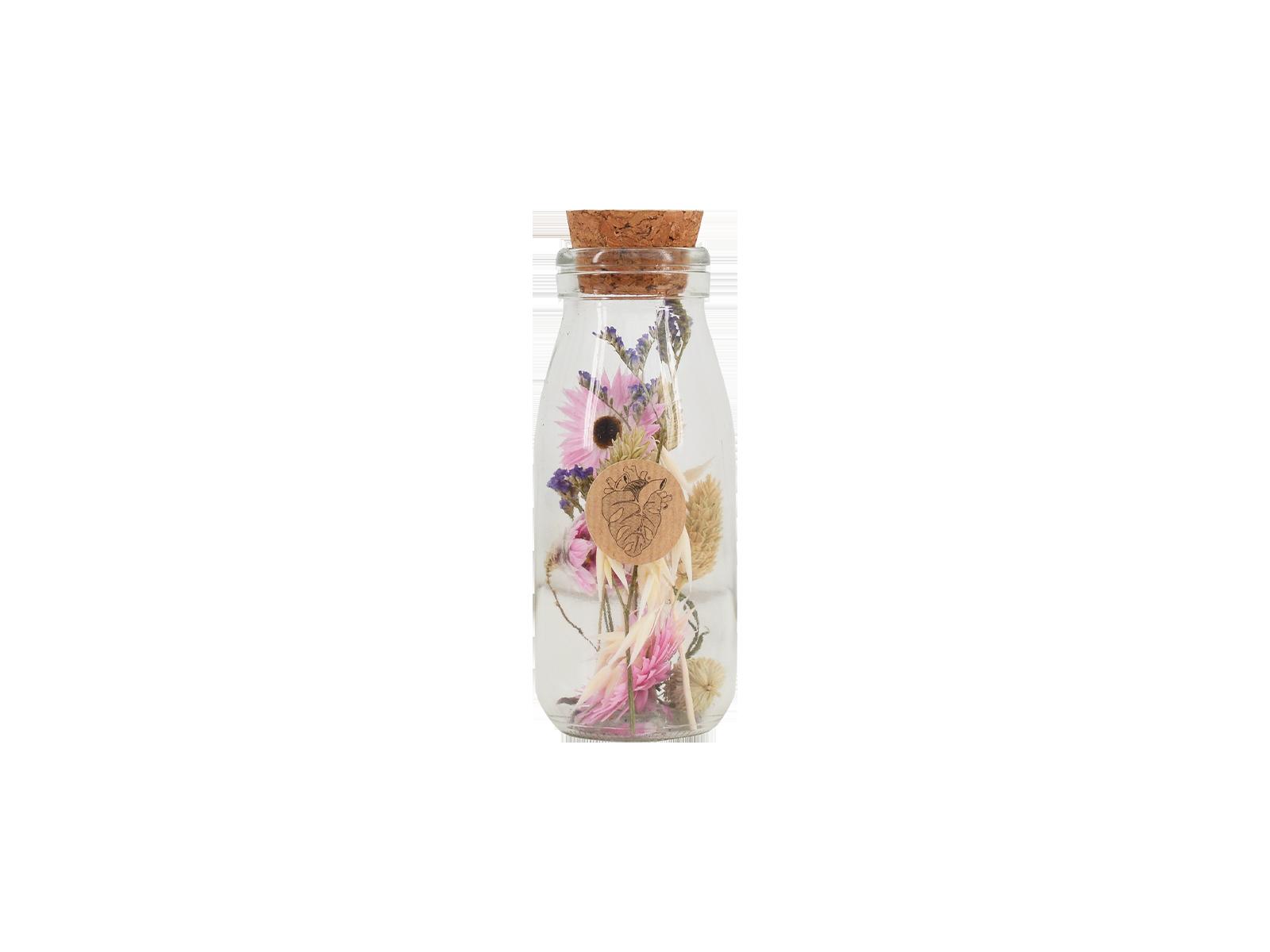 Dried Flowers In Bottle Medium