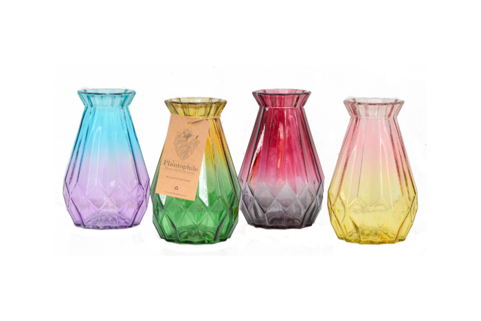 Diamond vase in different colors