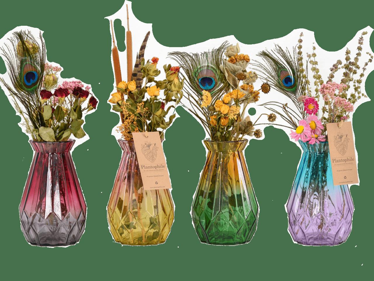 Diamond Vases Dried Flowers Large