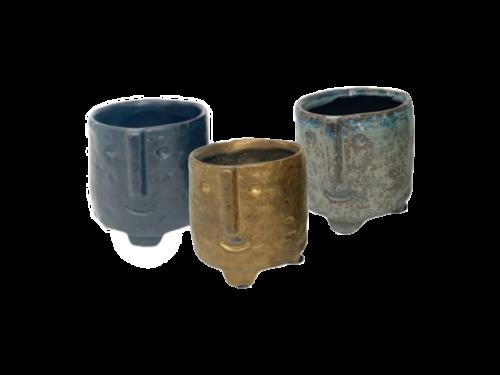 Face Pots Small Colored
