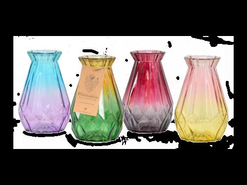 Colored Diamond Vases Large