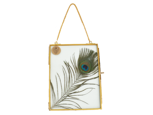 Photo Frame with peacock feather gold