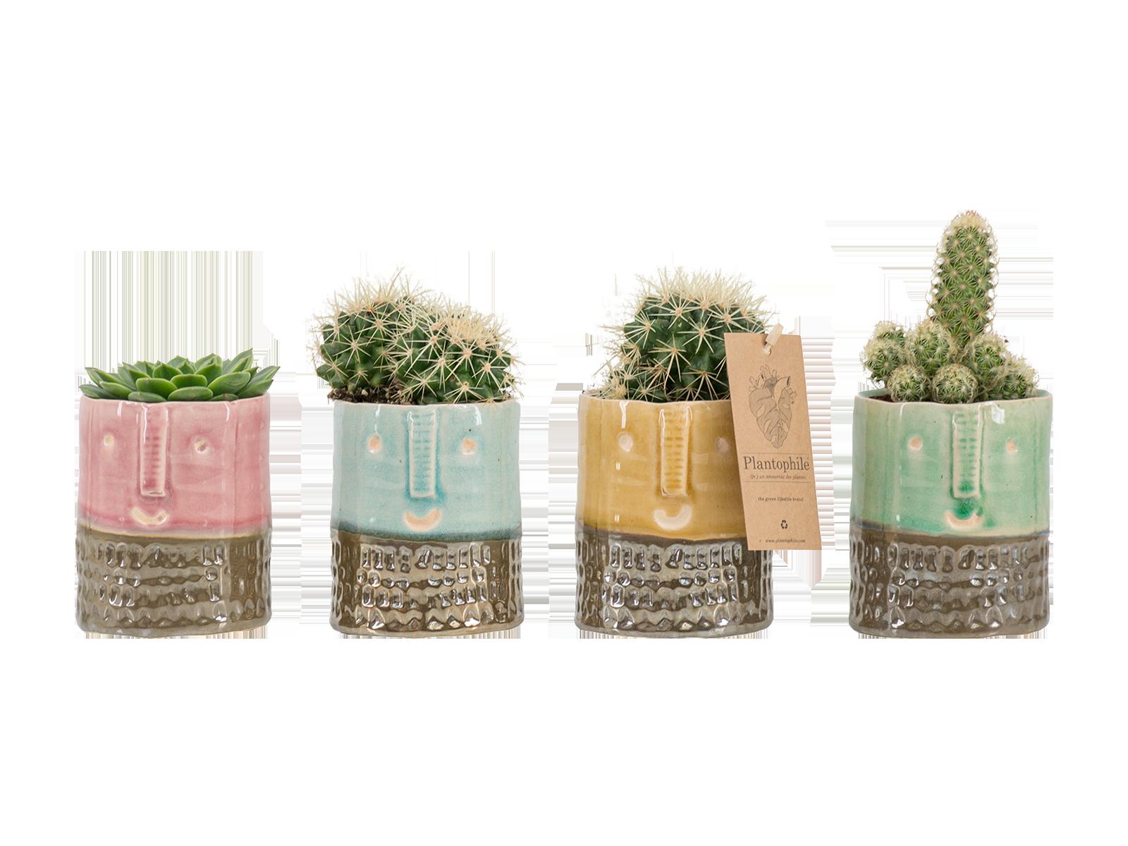 Face pots Yannique medium - design by Plantophile